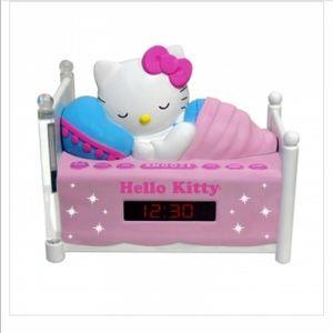 Hello Kitty Sleeping Kitty Alarm Clock